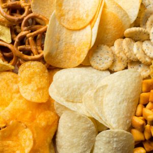 chips , biscuits et gateau